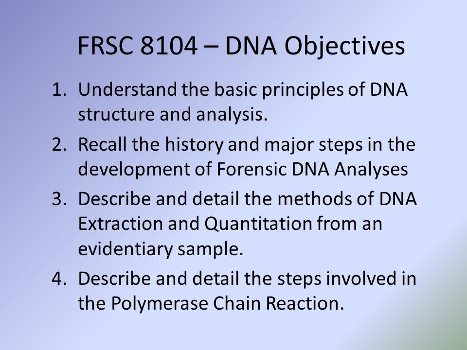 FRSC 8104 – DNA Outline
