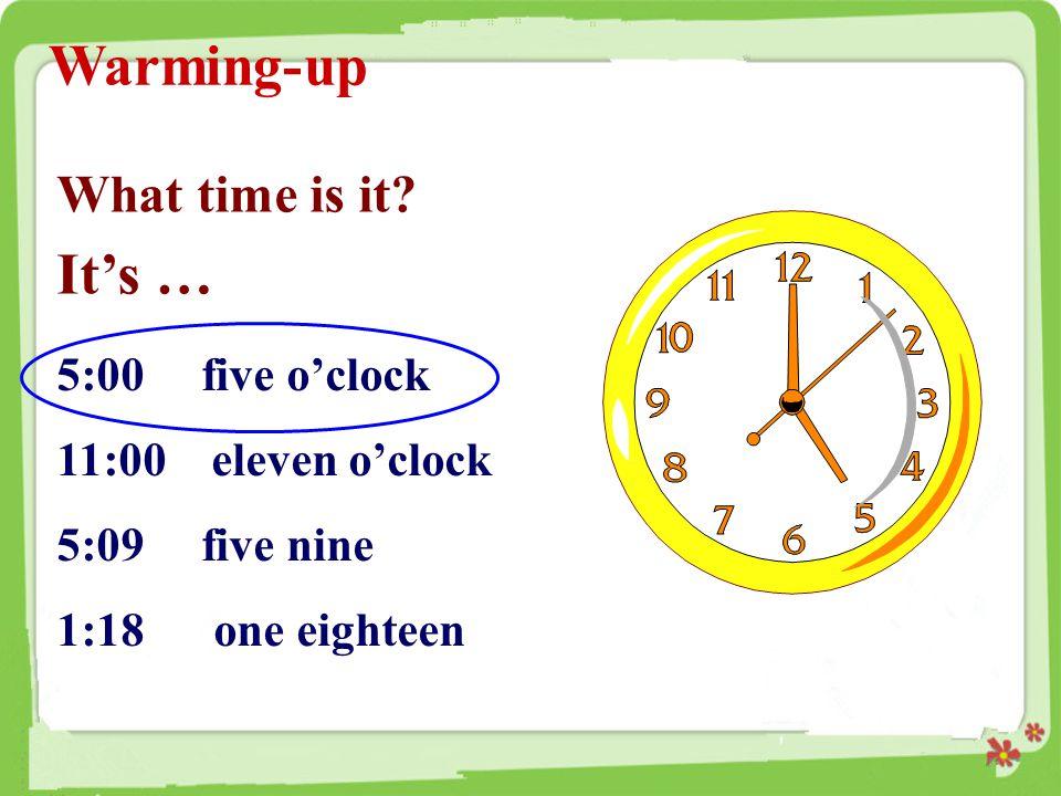 [ 拓展 ] 时间表示法一览 : 1.半点的表达。如 : half past six 6 点半 nine thirty 9 点半 2.