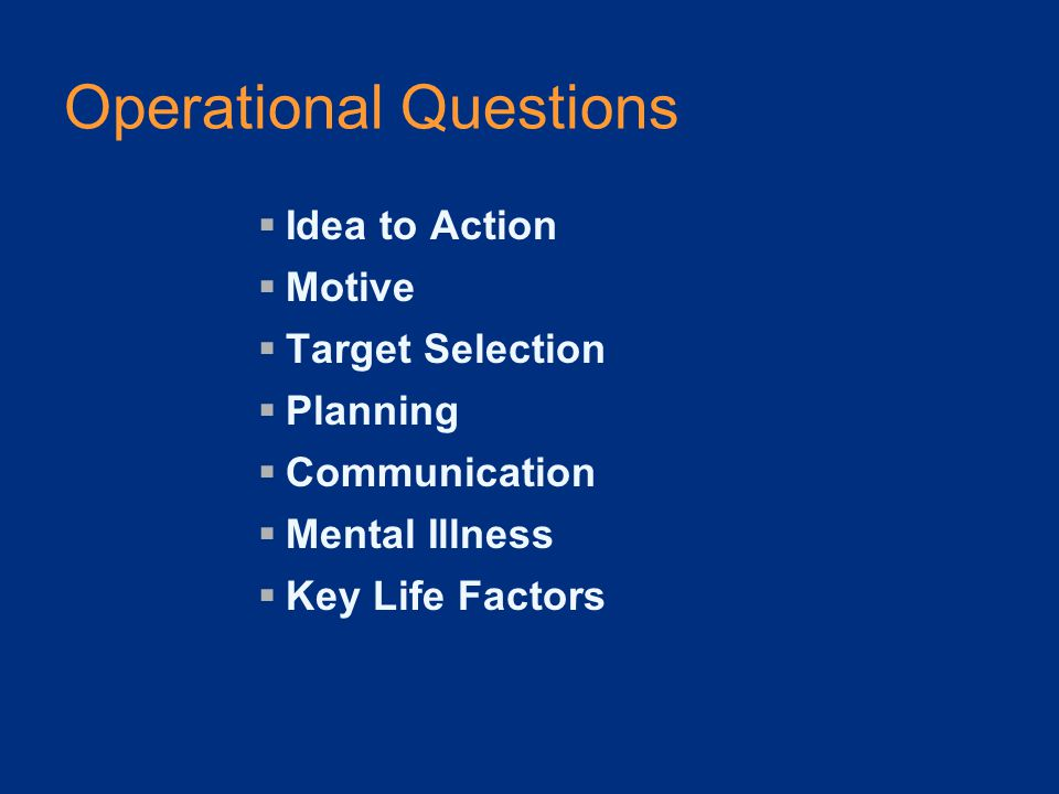 Eleven Key Questions: #10  Are other people concerned about the student's potential for violence?