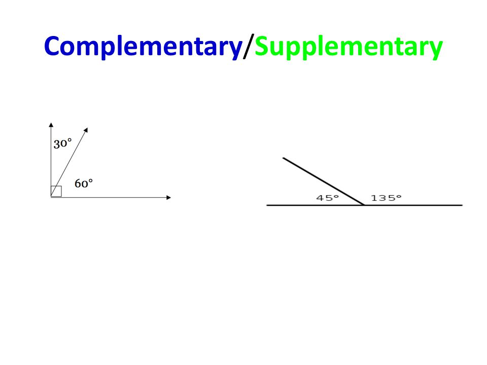 Complementary/Supplementary