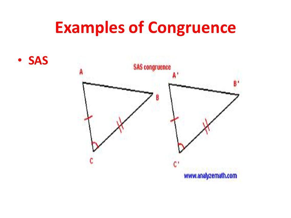Examples of Congruence SAS