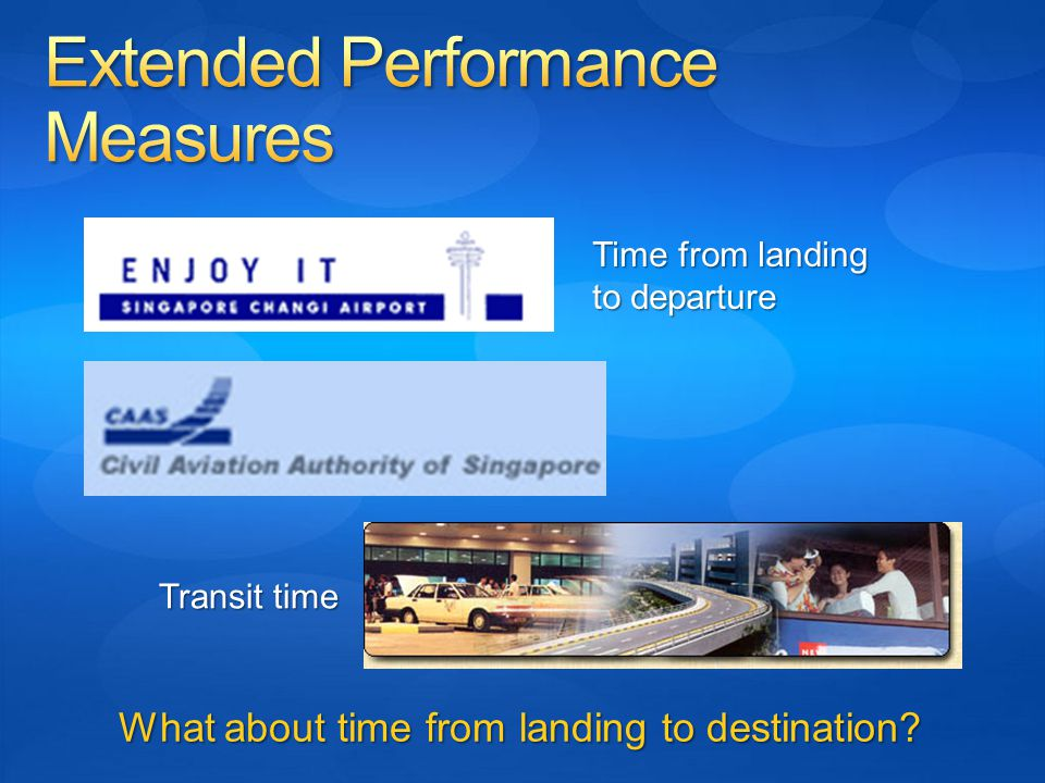 Time from landing to departure Transit time What about time from landing to destination?