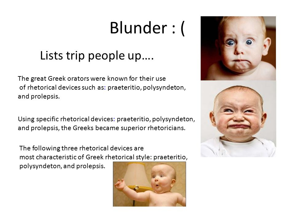 Blunder : ( Lists trip people up….