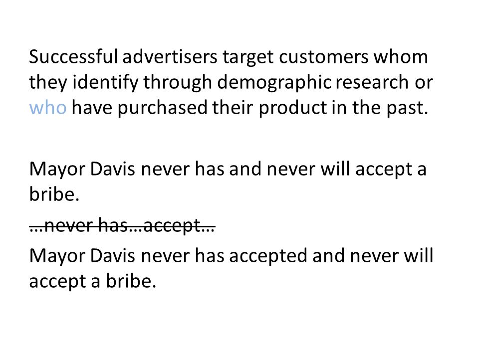 Successful advertisers target customers whom they identify through demographic research or who have purchased their product in the past.