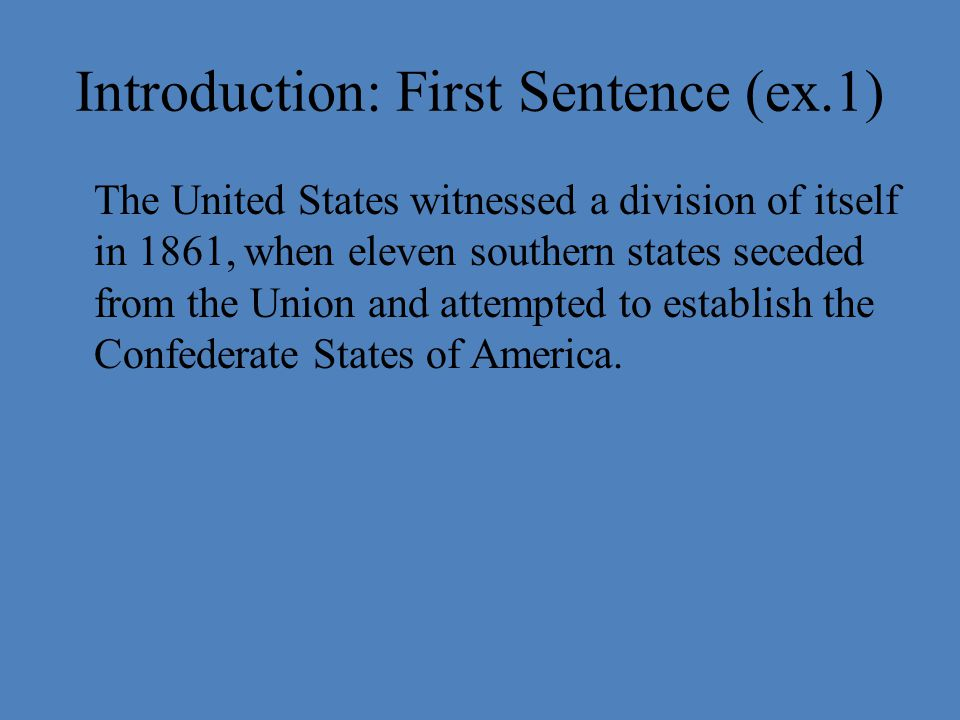 the causes of the civil war essay u s history introduction   witnessed a division of itself in 1861 when eleven southern states seceded from the union and attempted to establish the confederate states of america