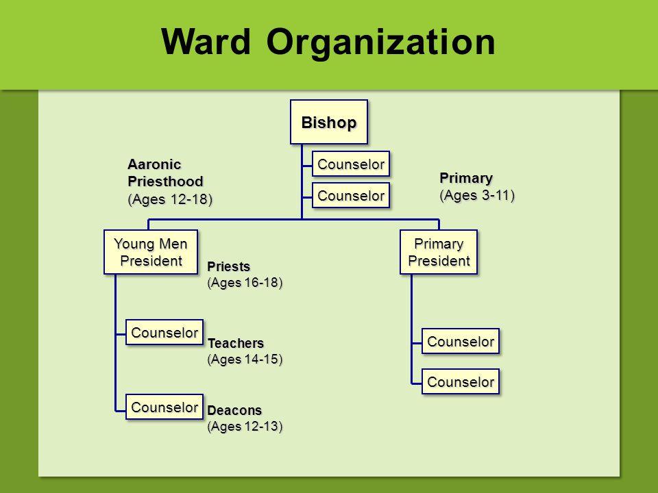 Ward Organization CounselorCounselor BishopBishop CounselorCounselor CounselorCounselor CounselorCounselor CounselorCounselor CounselorCounselor Aaron