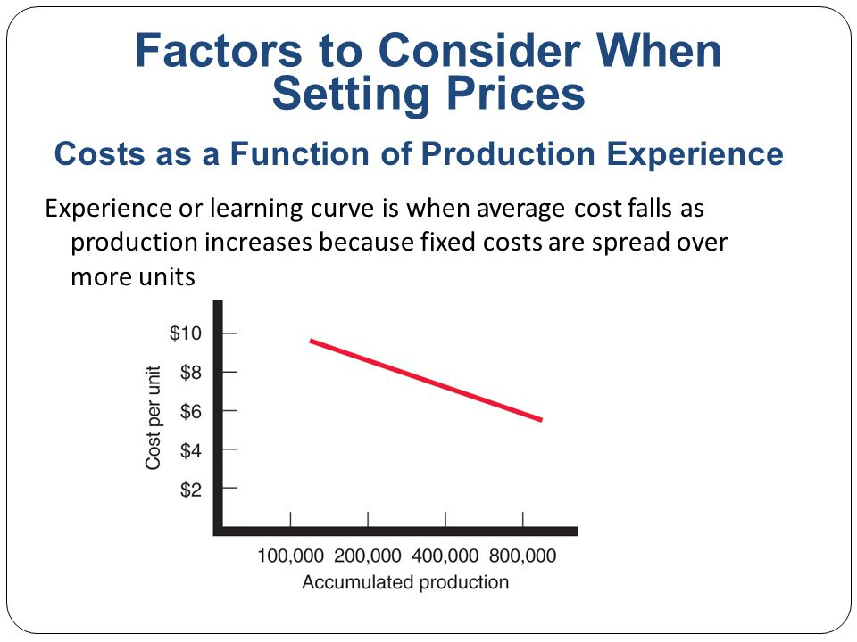 Factors to Consider When Setting Prices Cost-plus pricing adds a standard markup to the cost of the product Benefits Sellers are certain about costs Prices are similar in industry and price competition is minimized Consumers feel it is fair Disadvantages Ignores demand and competitor prices Cost-Plus Pricing