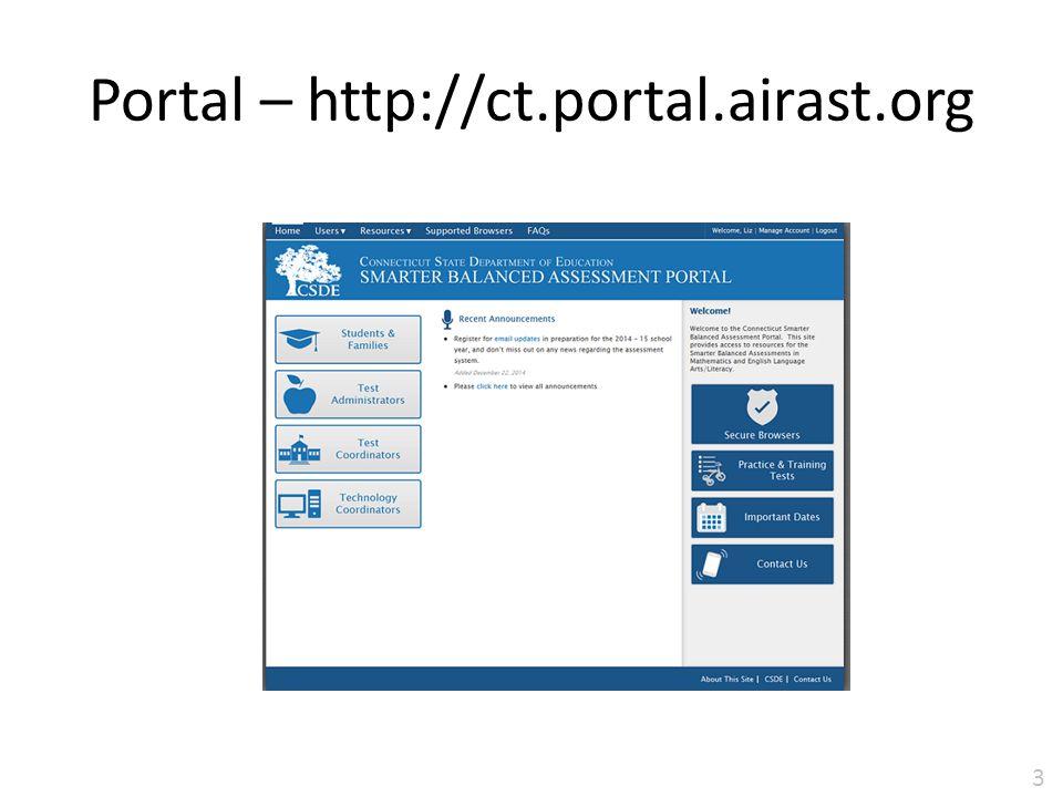 Portal – http://ct.portal.airast.org 30
