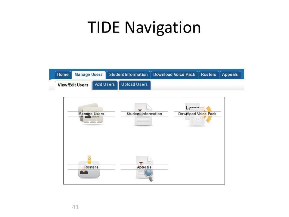 TIDE Navigation 41