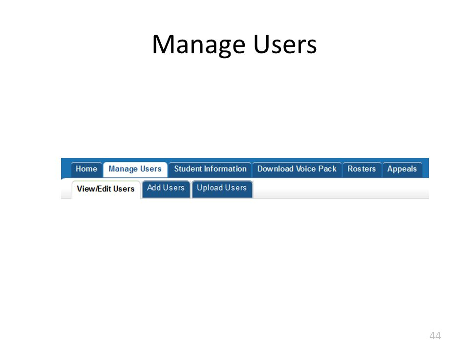 Manage Users 44