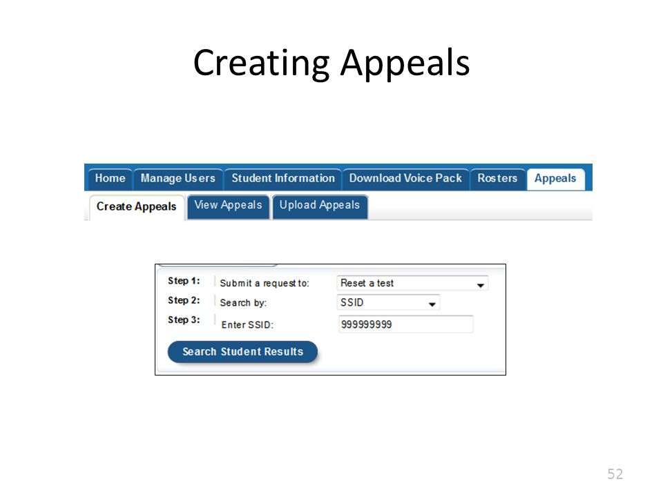 Creating Appeals 52