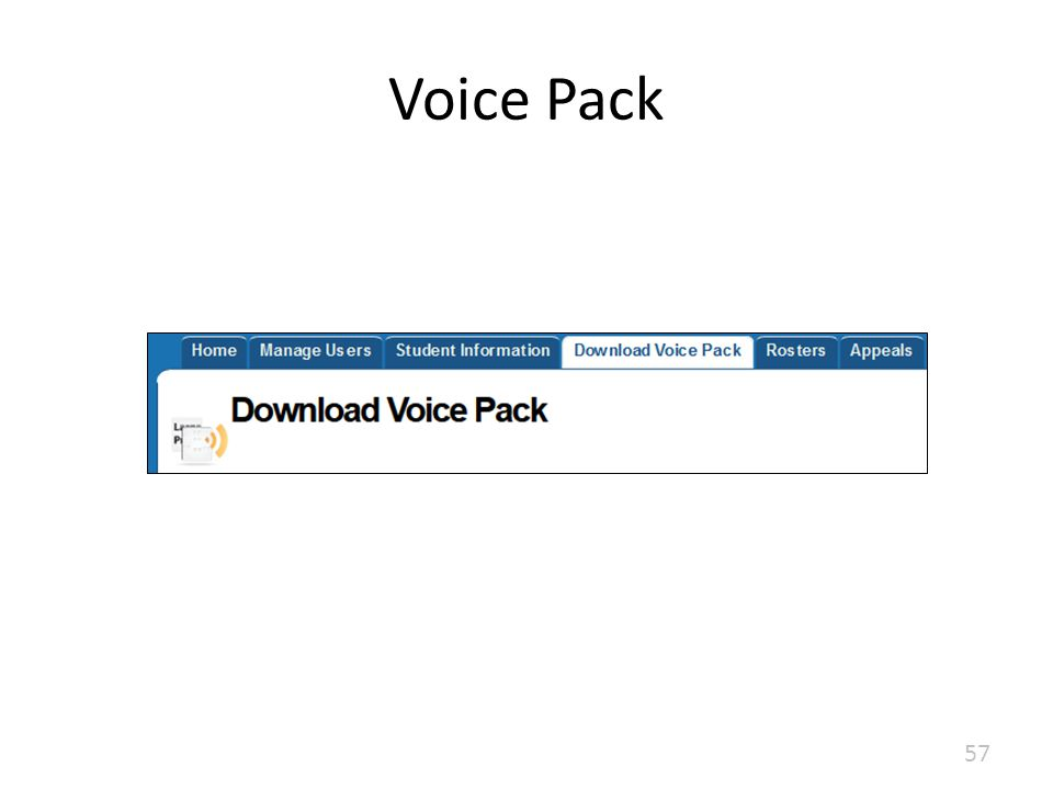 Voice Pack 57