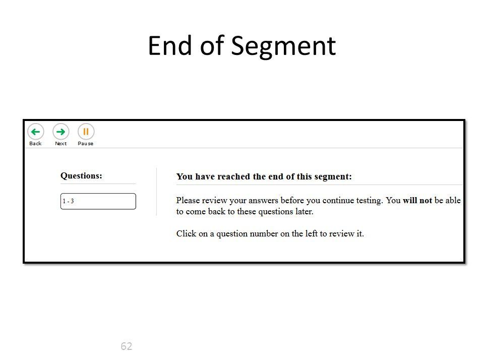 End of Segment 62