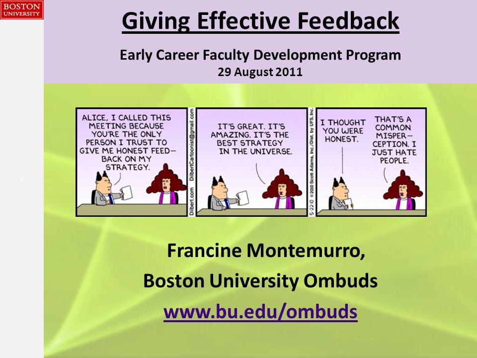 {{} Giving Effective Feedback