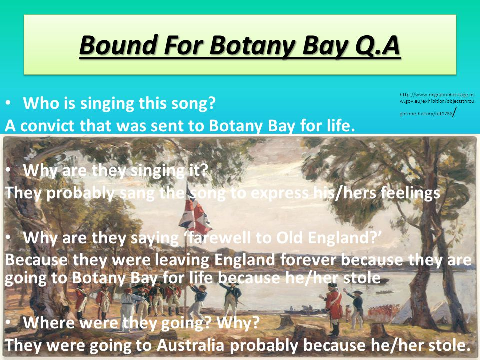 Bound For Botany Bay Botany Bay is located in Sydney, New South Wales, Australia.