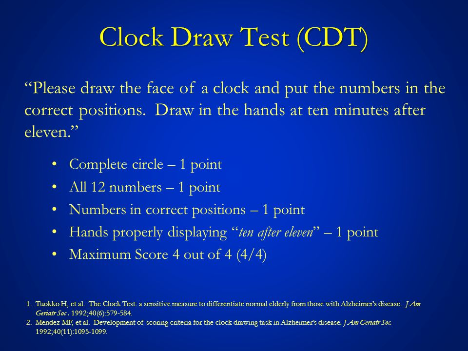 CDT: A Case How would you score this clock draw test.