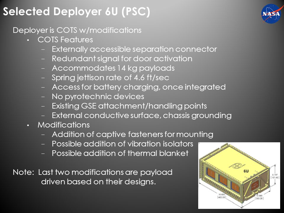 9 Payload Deployment
