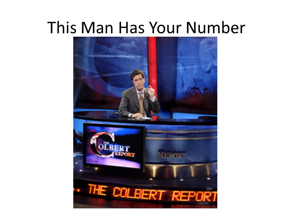 This Man Has Your Number