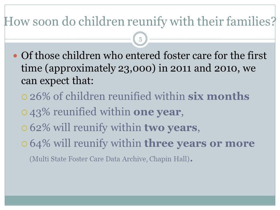 How many children re-enter care following reunification with their families.