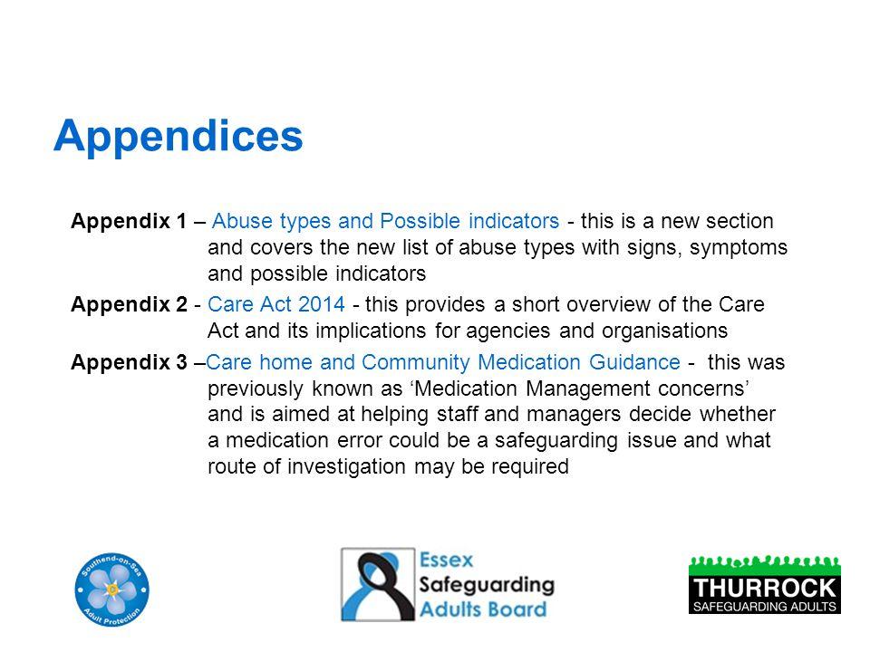 Appendices Cont.