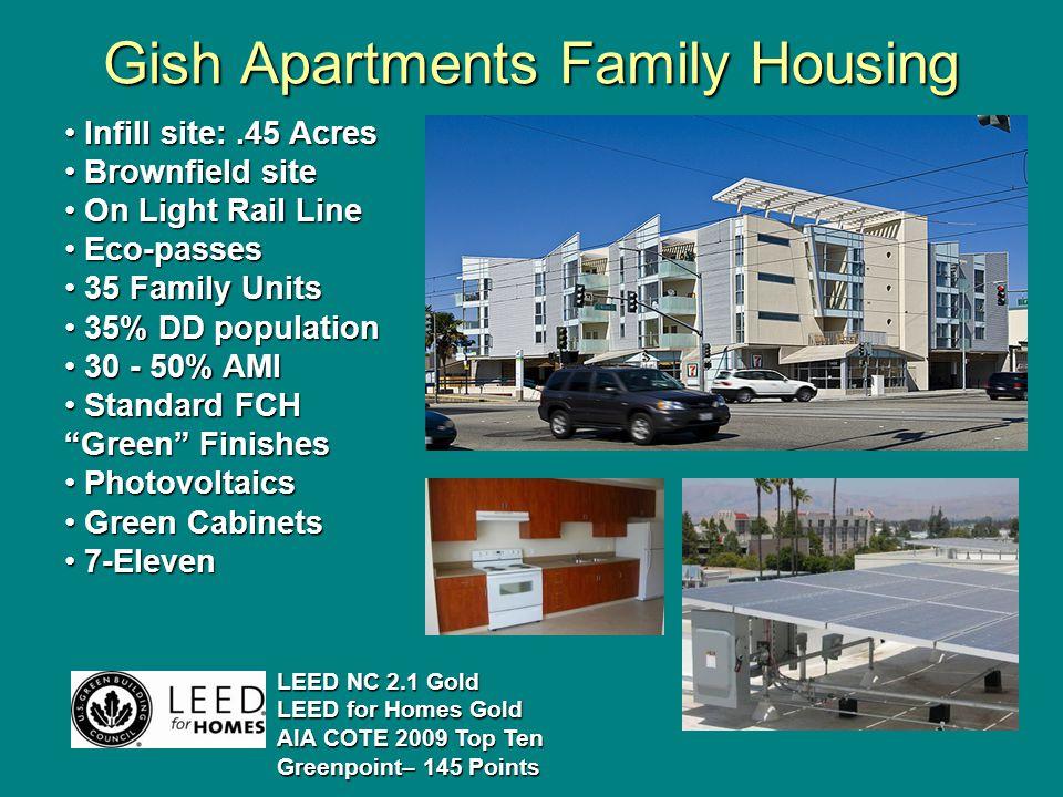 Gish Apartments Family Housing.