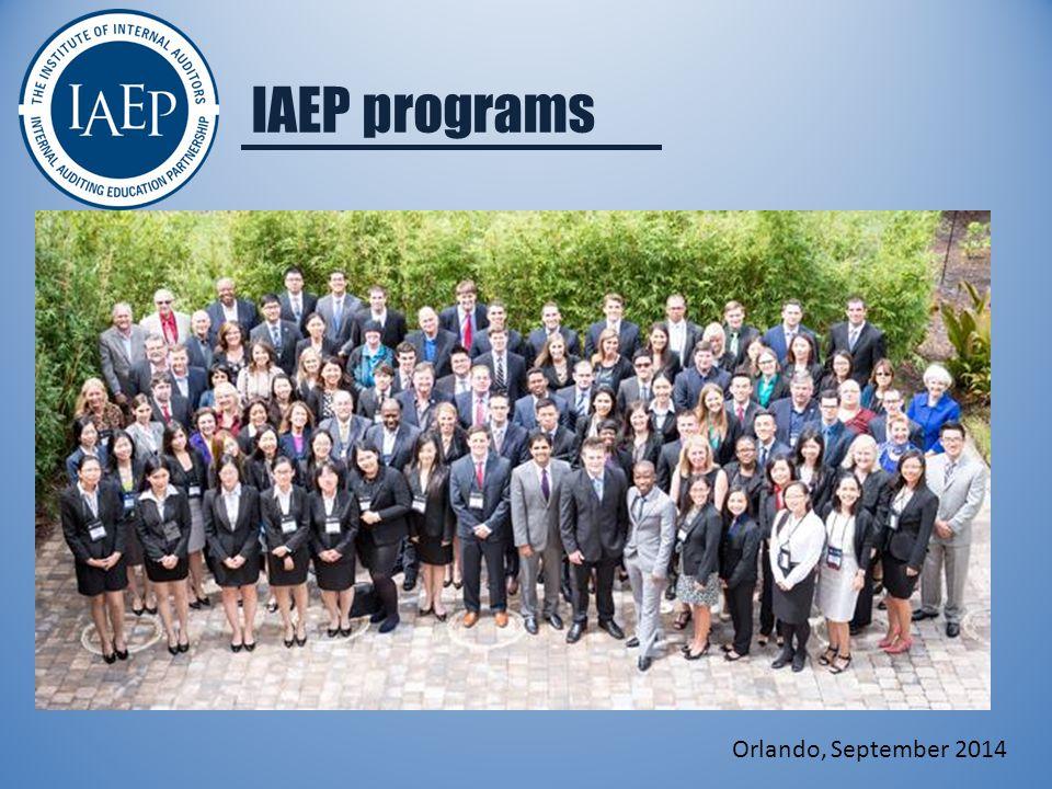 IAEP programs Orlando, September 2014