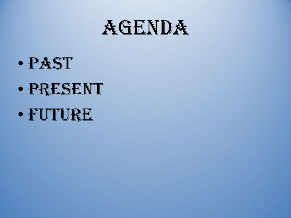 Agenda Past Present Future