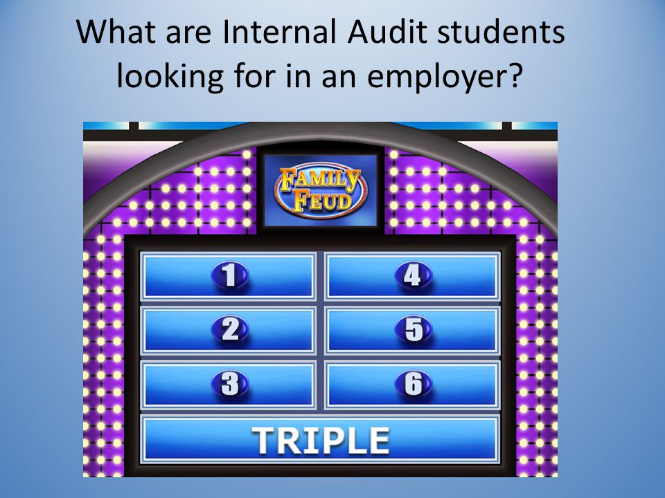 What are Internal Audit students looking for in an employer?
