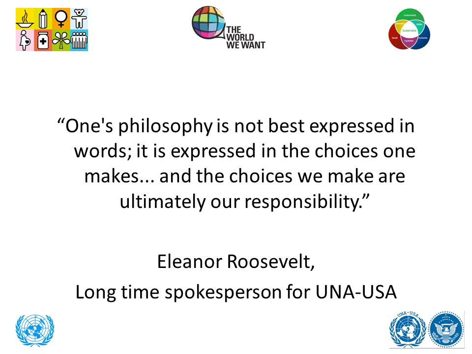 """""""One's philosophy is not best expressed in words; it is expressed in the choices one makes... and the choices we make are ultimately our responsibilit"""