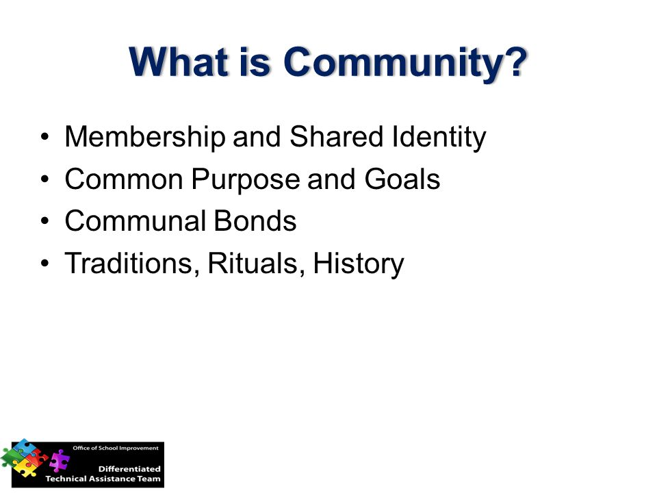 What is Community What is Community.