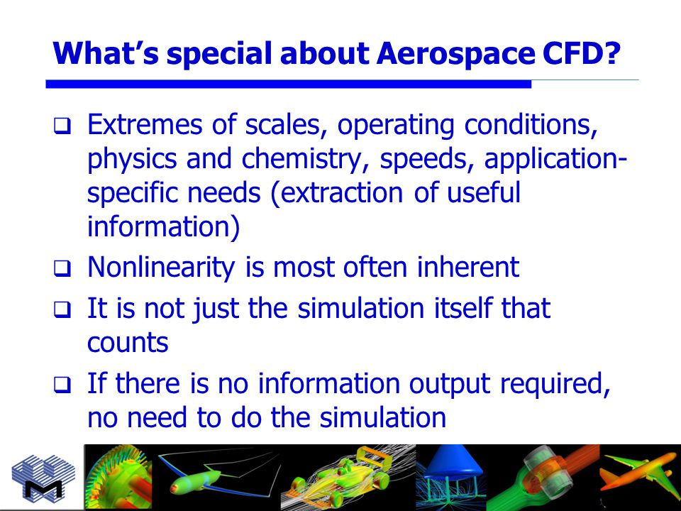 What's special about Aerospace CFD.