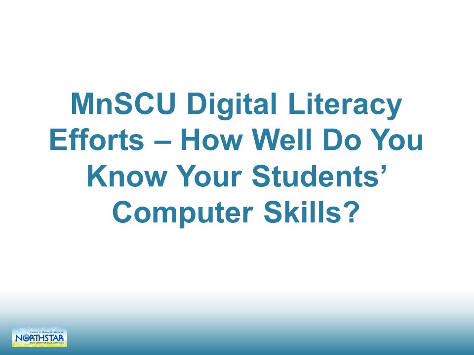 Agenda 1.Introduce the work of the MnLC Digital Literacy work group, and its goal (5 min) 2.