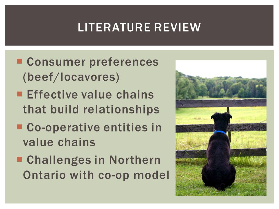  Consumer preferences (beef/locavores)  Effective value chains that build relationships  Co-operative entities in value chains  Challenges in Nort