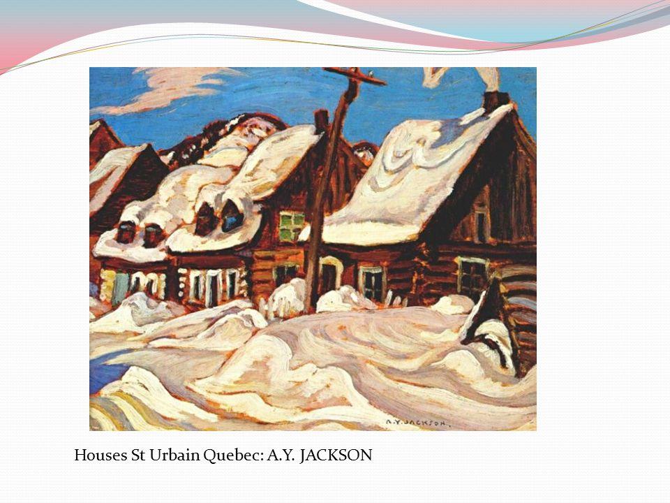Houses St Urbain Quebec: A.Y. JACKSON