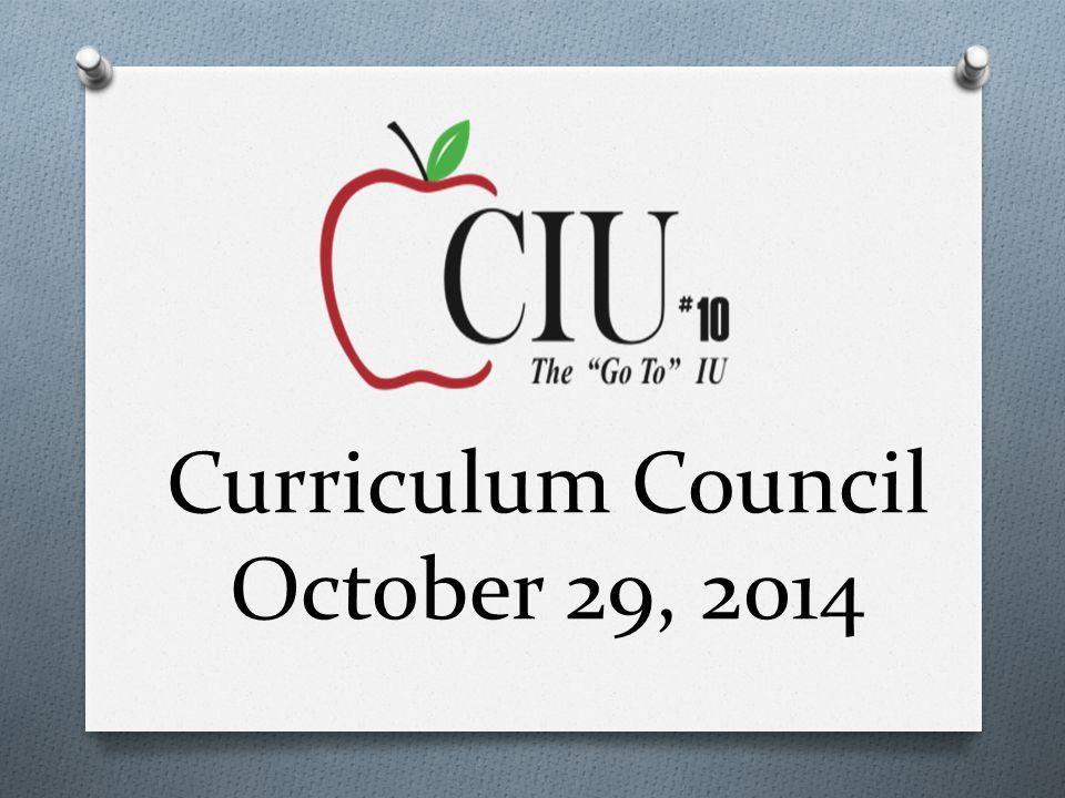 Curriculum Council October 29, 2014