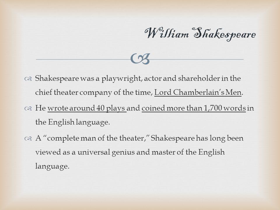  Shakespeare's Works Romeo and Juliet A Midsummer Night's Dream Hamlet Macbeth Othello Richard III