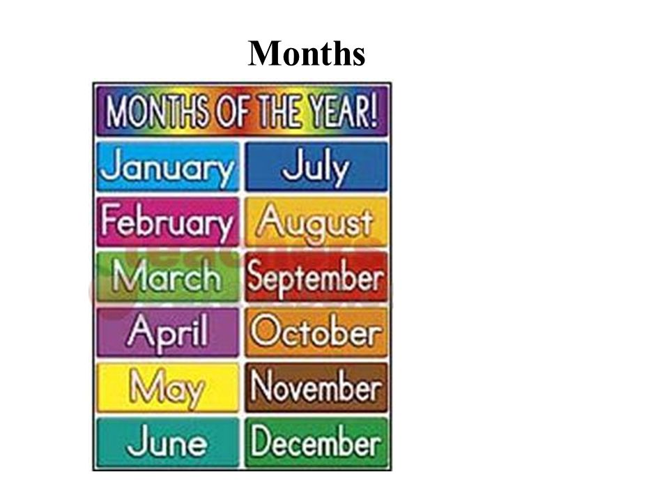 1.What is the first month. It is January. 2. What is the seventh month.