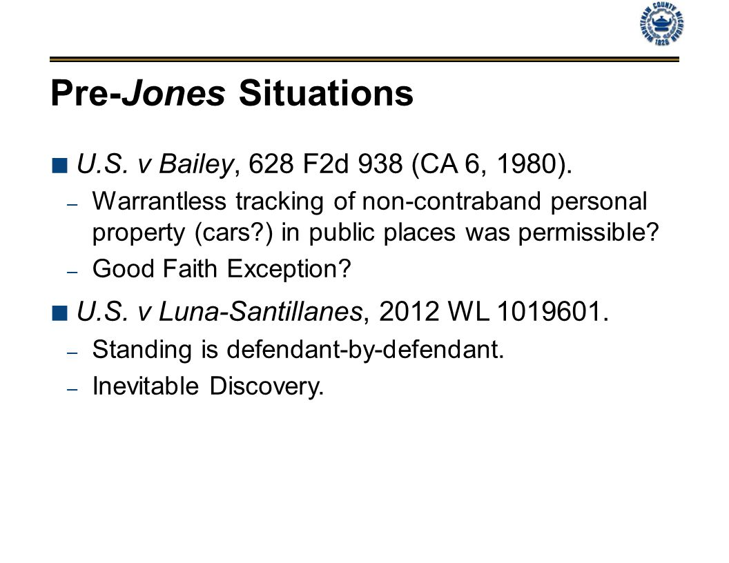 Pre-Jones Situations U.S. v Bailey, 628 F2d 938 (CA 6, 1980).