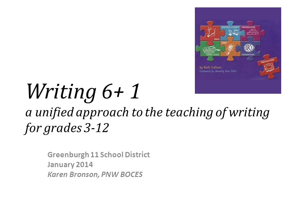 What is Writing 6 + 1.