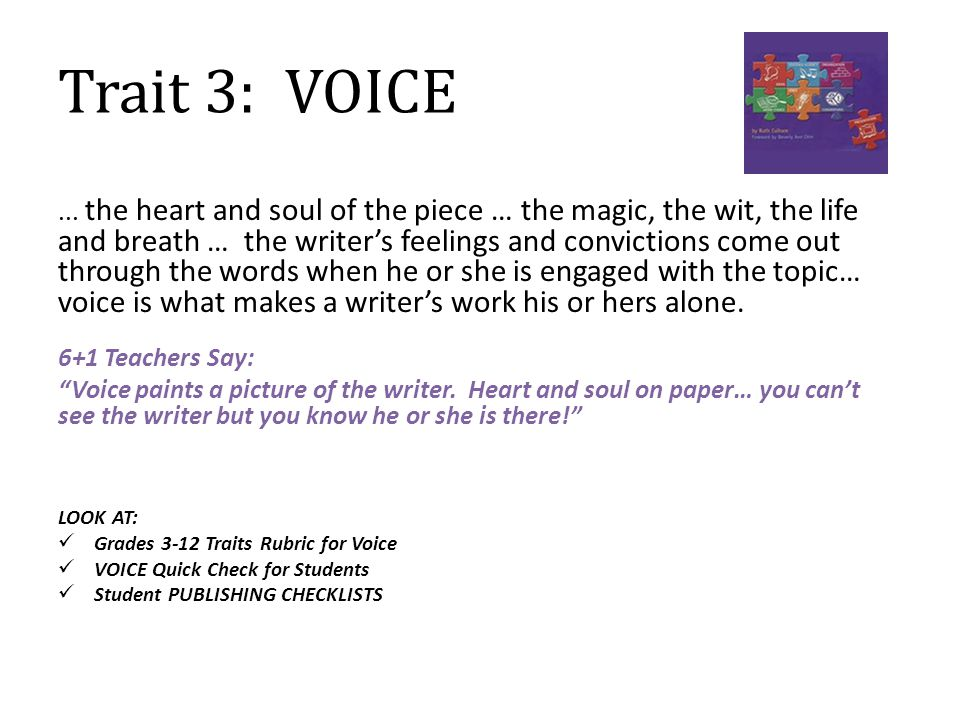 Trait 3: VOICE...