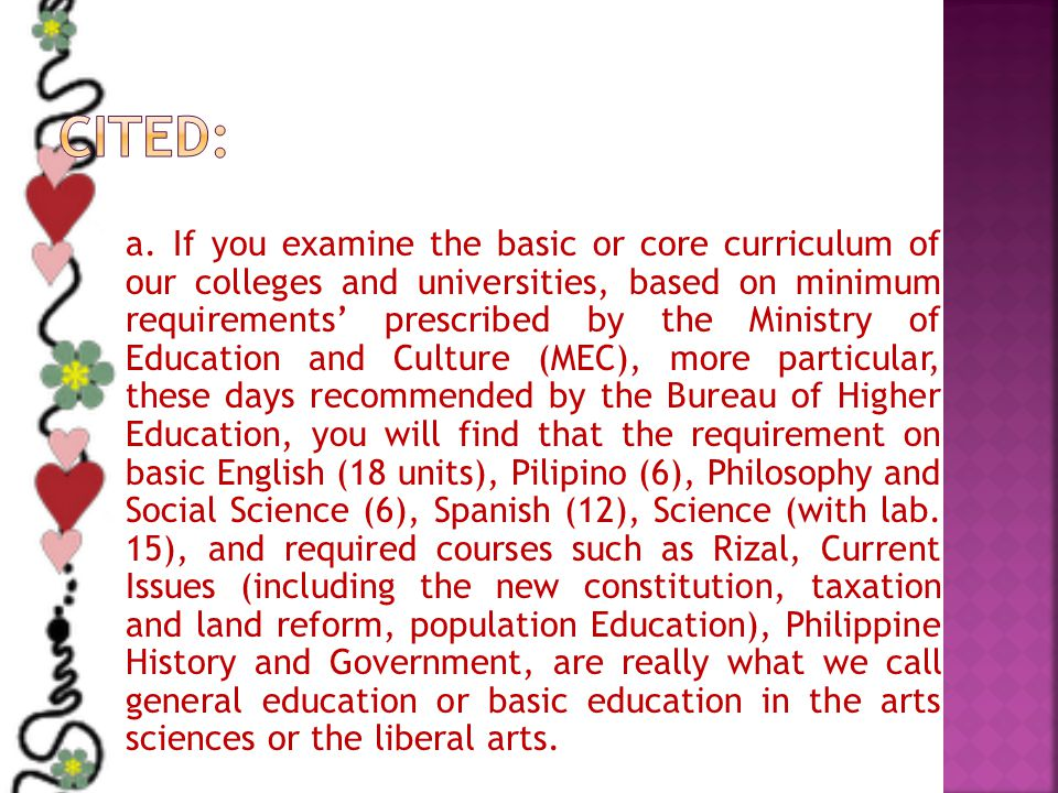 1. Improvement of the teaching and content of the required subjects 2. More Specializations.