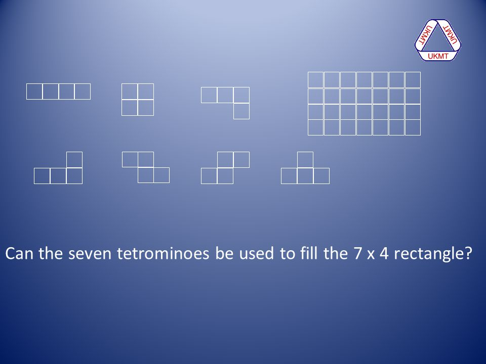 Can the seven tetrominoes be used to fill the 7 x 4 rectangle?