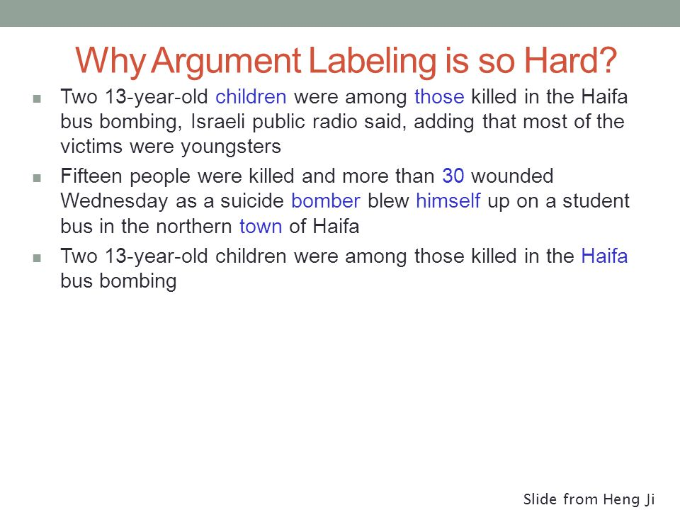 Why Argument Labeling is so Hard.