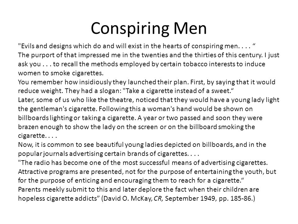 Conspiring Men Evils and designs which do and will exist in the hearts of conspiring men....