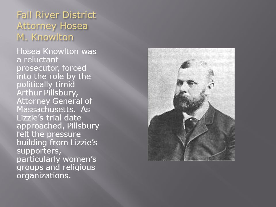 Fall River District Attorney Hosea M.