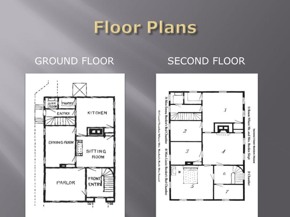 GROUND FLOOR SECOND FLOOR