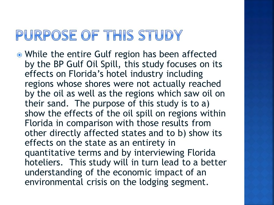  Areas of Florida not bordering the Gulf of Mexico, however, who did not have oil on their beaches, appear unaffected and seem to have seen growth over 2009 due to the rebounding economy.