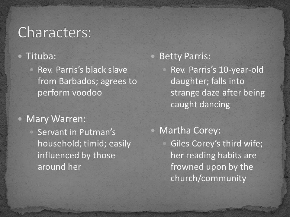 Tituba: Rev.