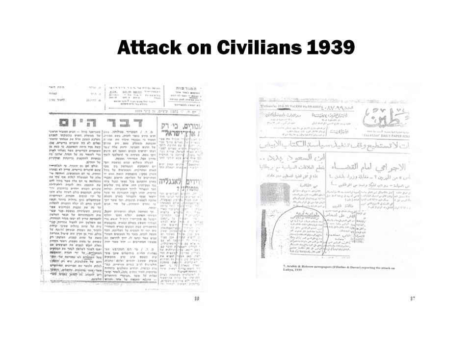 Attack on Civilians 1939