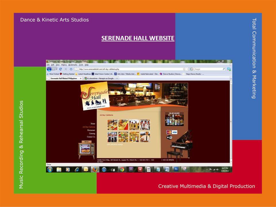 SERENADE HALL WEBSITE
